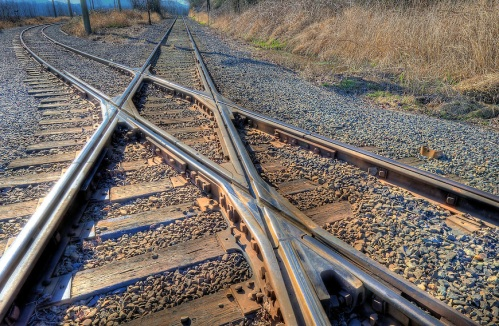 "Diamonds Crossing Train Tracks Photographer: Paul w Sharpe aka Wizard of Wonders™ ""Wizard of Wonders™ All Rights Reserved copyright 2010"""